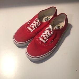 Men's Classic Red Vans Size 9.5